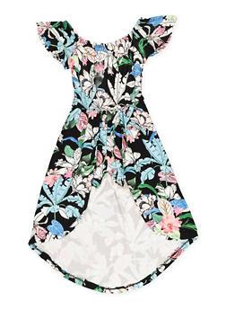 Girls 7-16 Soft Knit Overlay Romper - 1619060580035