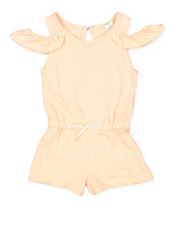 Girls 7-16 Cold Shoulder Romper - 1619061950017