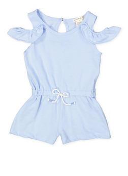 Girls 7-16 Cold Shoulder Romper - 1619061950018