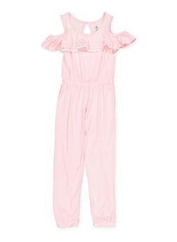 Girls 7-16 Soft Knit Cold Shoulder Jumpsuit | 1619061950038 - 1619061950038