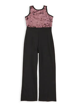 Girls 7-16 Reversible Sequin Jumpsuit - 1619063400016