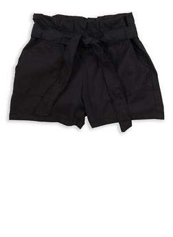 Girls 4-6x Paperbag Waist Shorts - 1620038340043