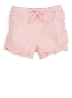 Girls 4-6x Blush Twill Shorts - 1620038340064