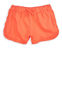 Girls 4-6x Coral Twill Shorts - 1620038340065