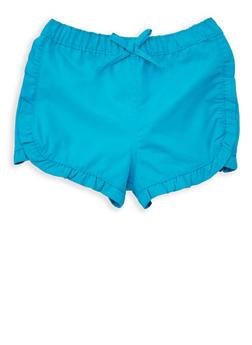 Girls 4-6x Ruffled Twill Shorts - 1620038340069