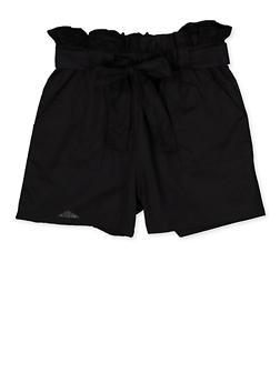 Girls 4-6x Paper Bag Waist Shorts | 1620038340088 - 1620038340088