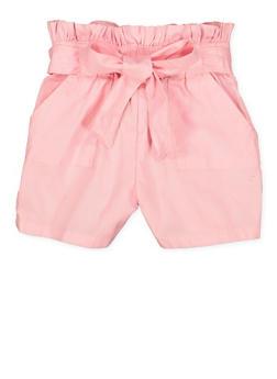 Girls 4-6x Paper Bag Waist Shorts | 1620038340090 - 1620038340090