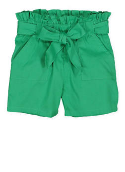 Girls 4-6x Paper Bag Waist Shorts | 1620038340091 - 1620038340091