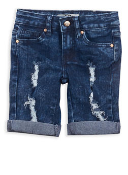 Girls 4-6x Distressed Bermuda Shorts - 1620056720005