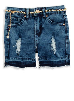 Girls 4-6x Acid Wash Cut Off Denim Shorts - 1620056720016