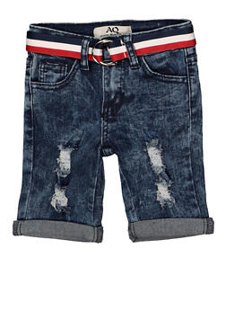 Girls 4-6x Striped Belt Denim Bermuda Shorts | 1620056720023 - 1620056720023