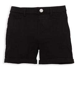 Girls 4-6x Cuffed Hyperstretch Shorts - 1620063400021