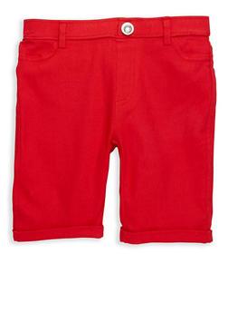Girls 4-6x Studded Hyperstretch Bermuda Shorts - 1620063400022