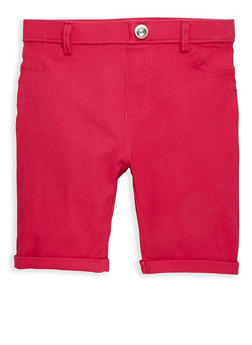 Girls 4-6x Studded Hyperstretch Bermuda Shorts - 1620063400022