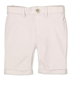 Girls 4-6x Hyperstretch Bermuda Shorts | White - 1620063400026