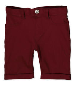 Girls 4-6x Hyperstretch Bermuda Shorts | Burgundy - 1620063400027
