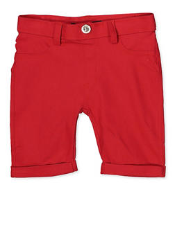 Girls 4-6x Hyperstretch Bermuda Shorts | Red - 1620063400028