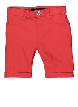 Girls 4-6x Hyperstretch Bermuda Shorts | Coral - 1620063400029