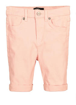 Little Girls Cuffed Bermuda Shorts - 1620073990044