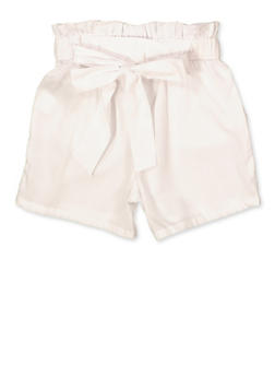 Girls 7-16 Paper Bag Waist Shorts | 1621038340093 - 1621038340093