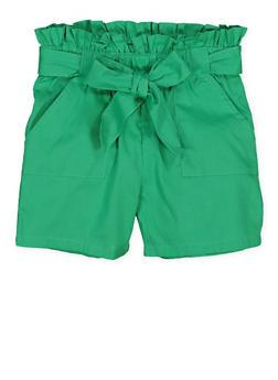 Girls 7-16 Paper Bag Waist Shorts | 1621038340096 - 1621038340096