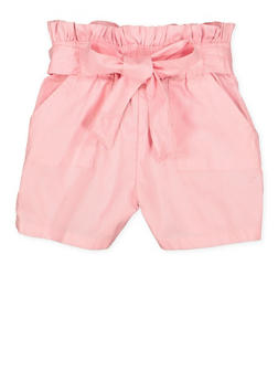 Girls 7-16 Paper Bag Waist Shorts | 1621038340096 - 1621038340096