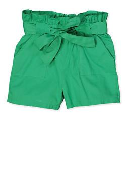 Girls 7-16 Paper Bag Waist Shorts | 1621038340115 - 1621038340115