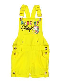 Girls Made Of Magic Graphic Shortalls - 1621038340198