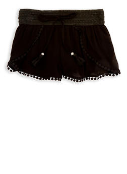 Girls 7-16 Crochet Trim Gauze Knit Shorts - 1621051060025