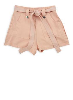 Girls 7-16 Tie Waist Shorts - 1621051060026