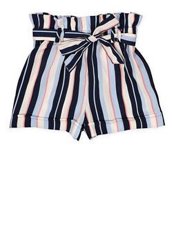 Girls 7-16 Paper Bag Tie Waist Shorts - 1621051060030