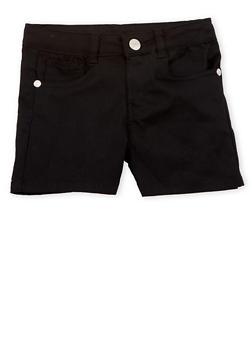 Girls 4-16 Black Twill Shorts - 1621054730008