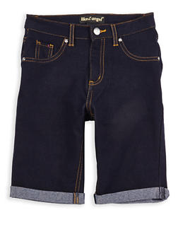Girls 7-16 Denim Knit Bermuda Shorts - 1621056570032