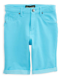 Girls 7-16 Stretch Bermuda Shorts - 1621056570040