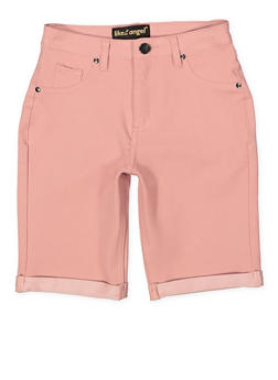 Girls 7-16 Stretch Bermuda Shorts | Mauve - 1621056570047
