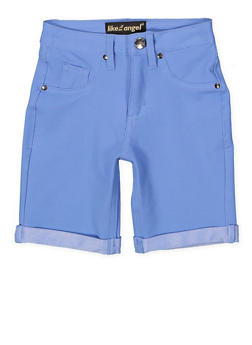 Girls 7-16 Stretch Bermuda Shorts | Blue - 1621056570050