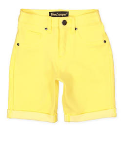 Girls 7-16 Denim Knit Bermuda Shorts | Yellow - 1621056570051