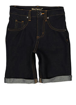Girls 7-16 Denim Knit Bermuda Shorts | 1621056570053 - 1621056570053