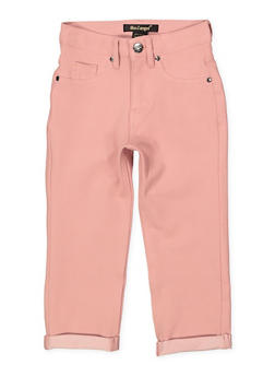 Girls 7-16 Fixed Cuff Stretch Pants | Mauve - 1621056570057