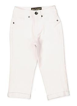 Capri Cotton White Pants