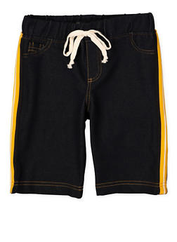 Girls 7-16 Denim Knit Bermuda Shorts | 1621056570062 - 1621056570062