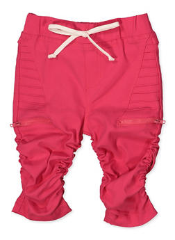 Girls 7-16 Ruched Moto Bermuda Shorts - 1621056570068