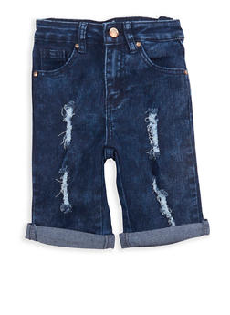Girls 7-16 Denim Bermuda Shorts - 1621056720006