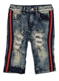 Girls 7-16 Distressed Striped Tape Skinny Jeans - 1621056720035
