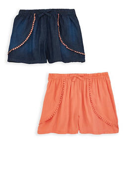 Girls 7-16 Set of 2 Shorts - 1621063370001