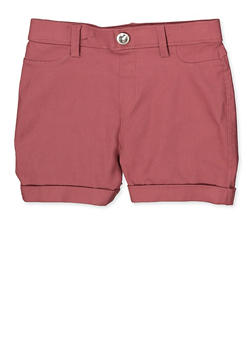 Girls 7-16 Hyperstretch Shorts | Mauve - 1621063400131