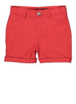 Girls 7-16 Hyperstretch Shorts | Coral - 1621063400132