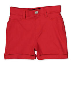 Girls 7-16 Hyperstretch Shorts | Red - 1621063400133