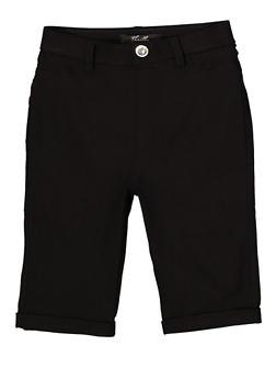 Girls 7-16 Hyperstretch Bermuda Shorts   1621063400135 - 1621063400135
