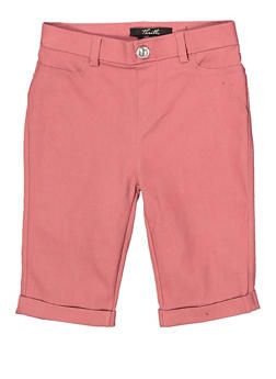 Girls 7-16 Hyperstretch Bermuda Shorts | Mauve - 1621063400139